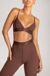 Rhea Meshki Triangle Crop Top - Nude