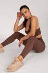 Hera Panelled Leggings - Nude