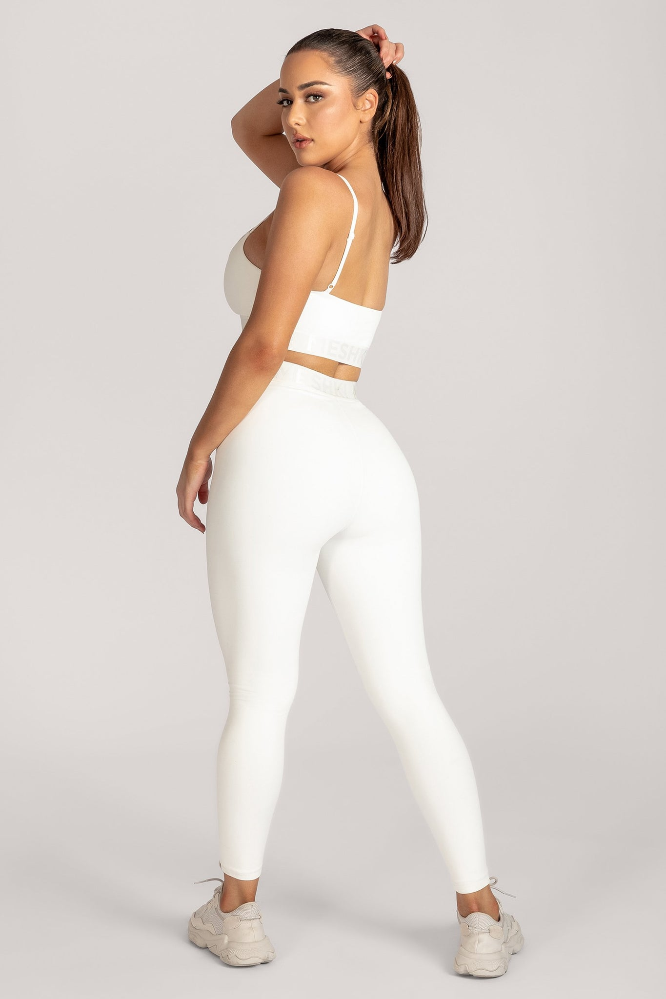 Acacia Meshki Full Length Leggings - White - MESHKI