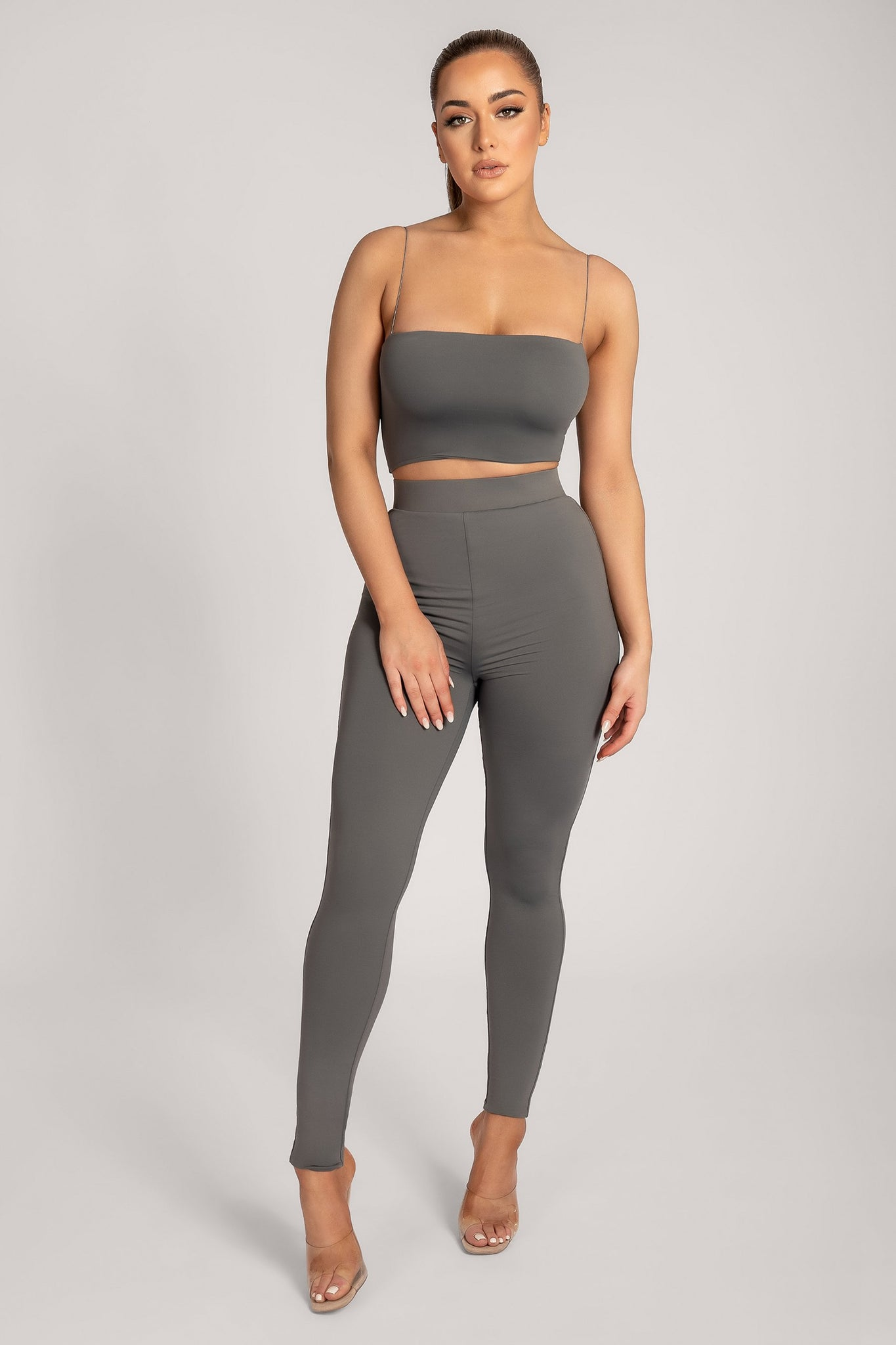 Tilly High Waisted Legging - Charcoal - MESHKI
