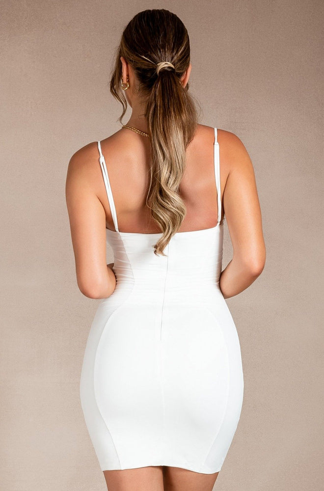 Finna Cut Out Ring Mini Dress - White