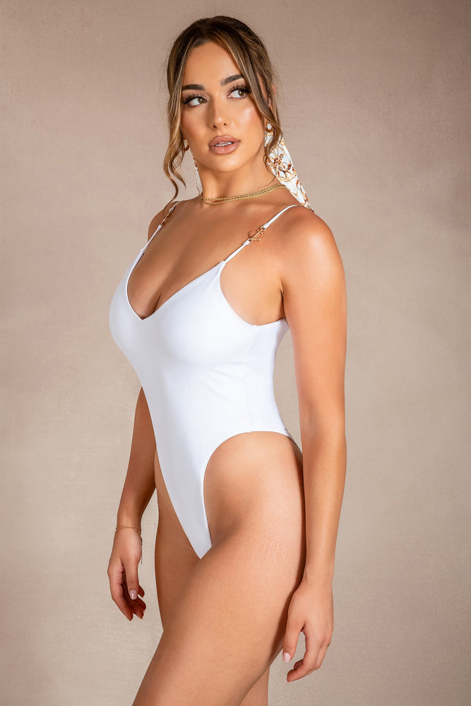 Joslyn Plunge Anchor Detail One Piece  - White