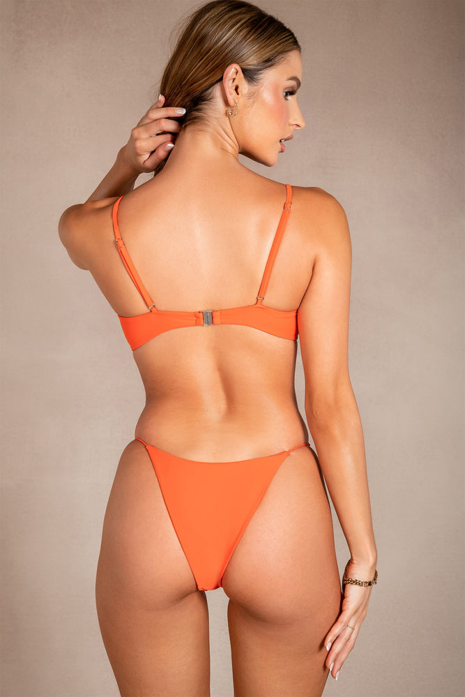 Sydnie Diamante Meshki Logo Bikini Bottom - Orange