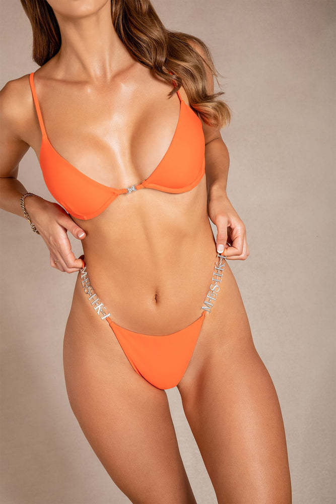 Chalice Underwire Bikini Top - Orange