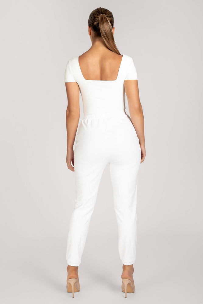 Marni Short Sleeve Square Neck Bodysuit - White