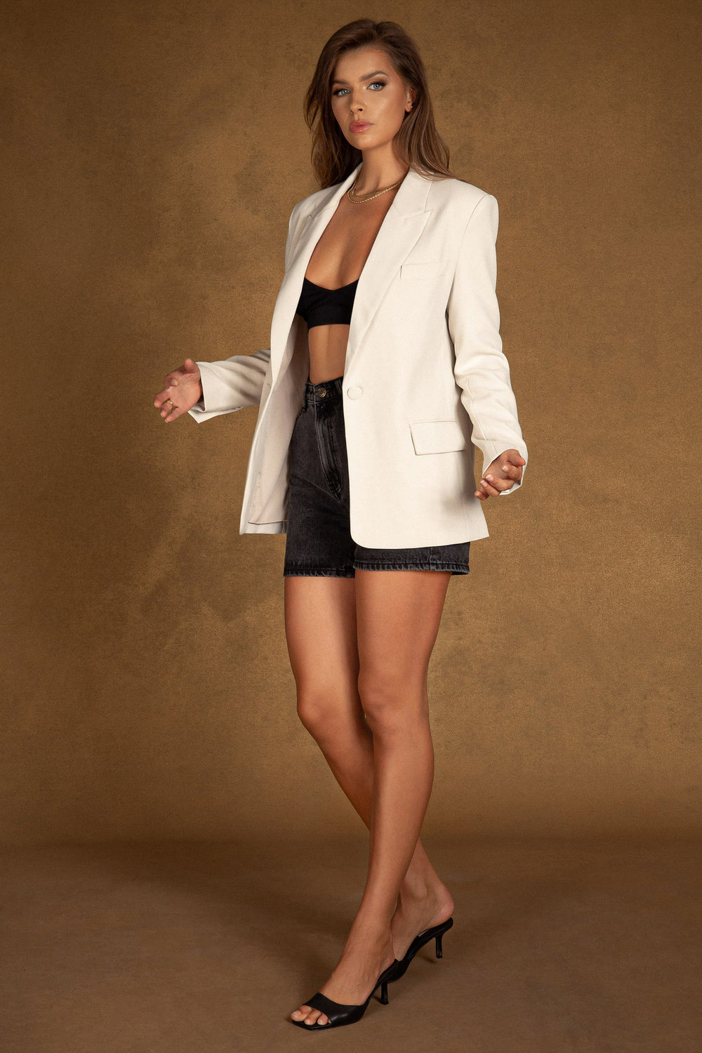 Monica Oversized Blazer - Cream