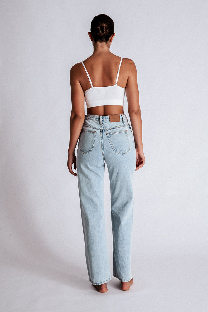 Ainsley Wide Leg Jeans - Light Blue