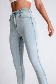 Estelle High Waisted Skinny Jeans - Light Blue