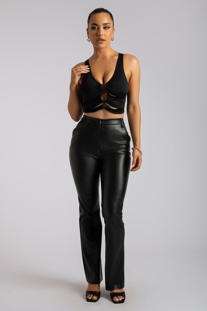 Skylar Triple O-Ring Top - Black