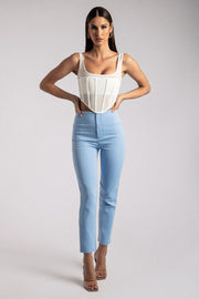 Indie High Waist Pants - Heritage Blue
