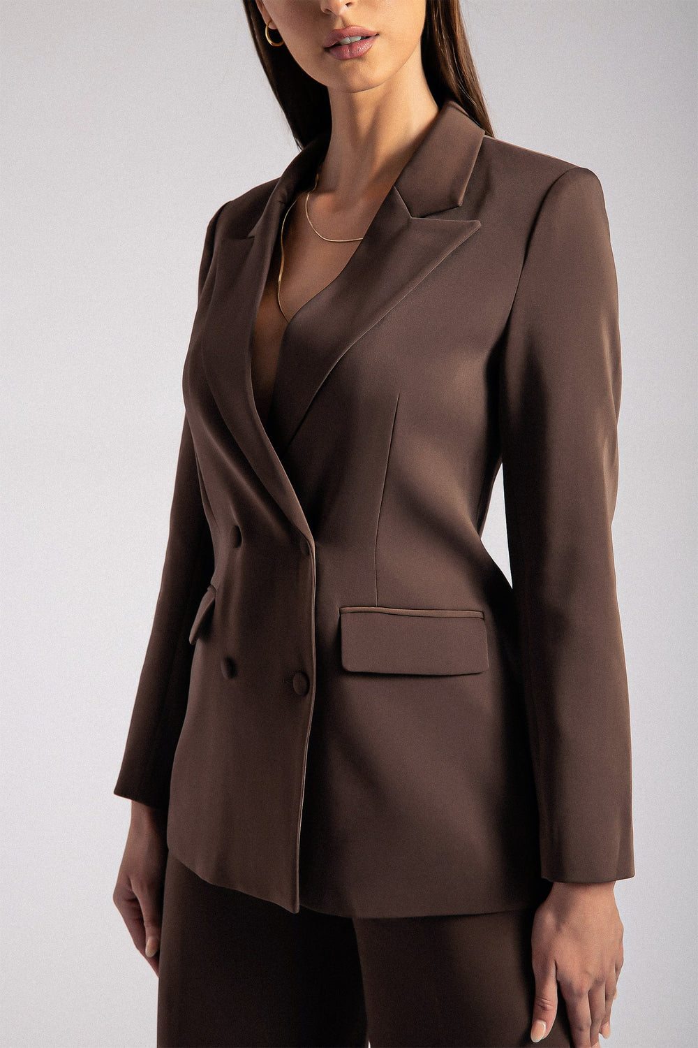 Elena Oversized Blazer- Chocolate