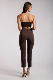 Indie High Waist Pants - Chocolate