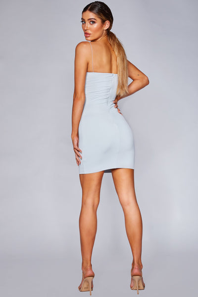 Mia Thin Strap Bodycon Mini Dress - Baby Blue - MESHKI
