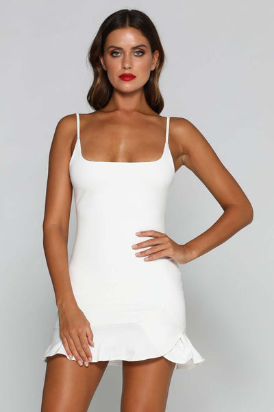 Angela Mini Dress - White - MESHKI