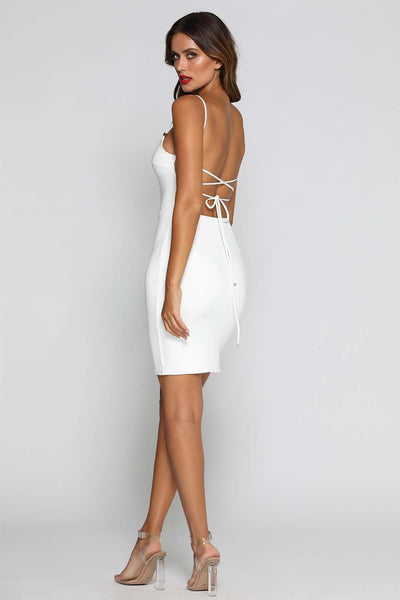 Sandra Midi Dress - White - MESHKI