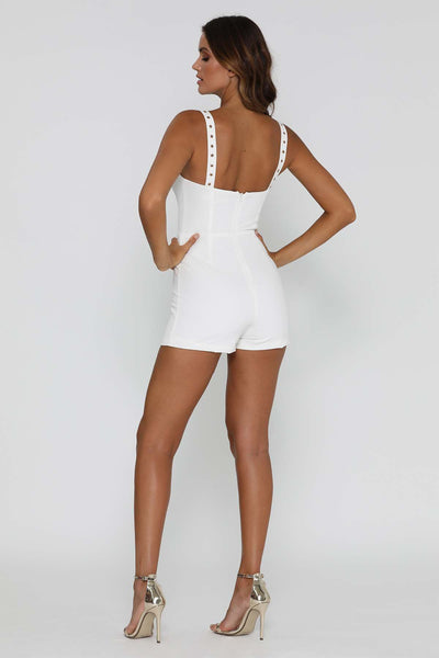 Dasha Playsuit - White - MESHKI