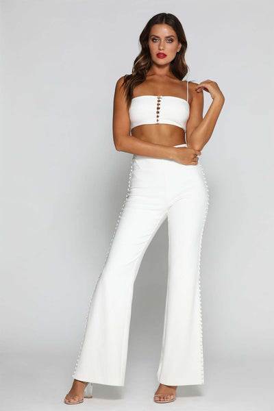Katria Crop Top - White - MESHKI