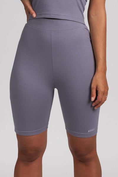 Anita Jersey Biker Shorts Leggings - Grey - MESHKI