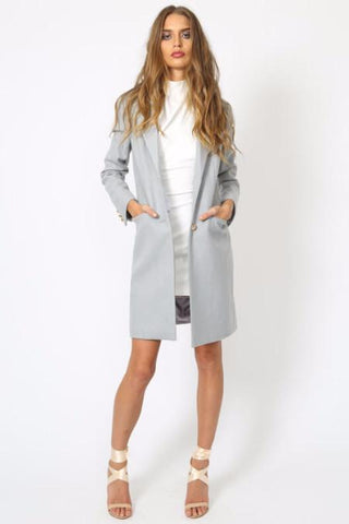 Bailey Blazer Coat - Grey