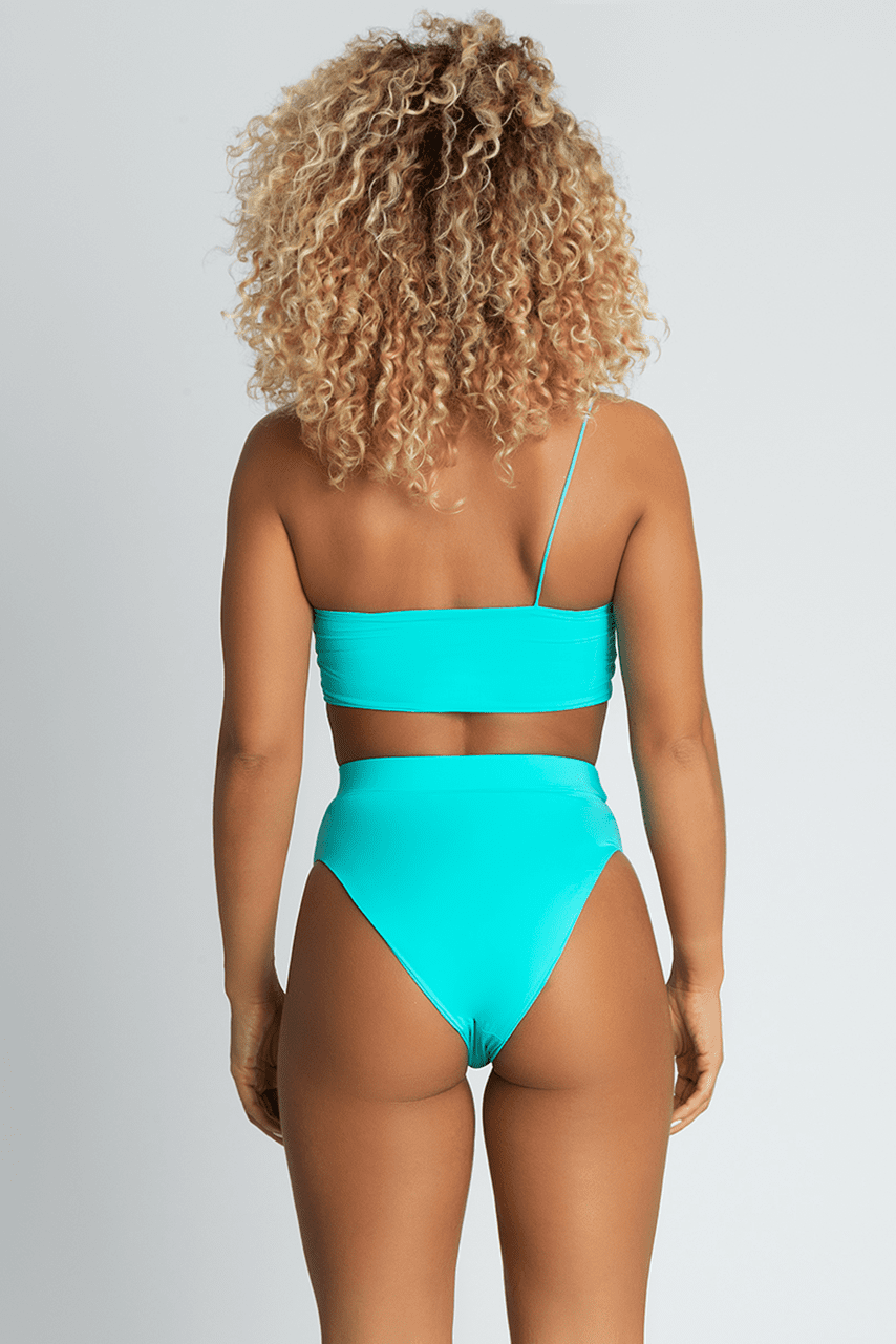 da9e9487678 Perrie High Waist Bikini Bottoms - Bright Turquoise