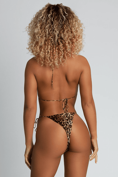 Amalia Tie Up Bikini Bottoms - Leopard - MESHKI