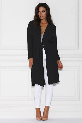 Alanis Trench Coat - Black
