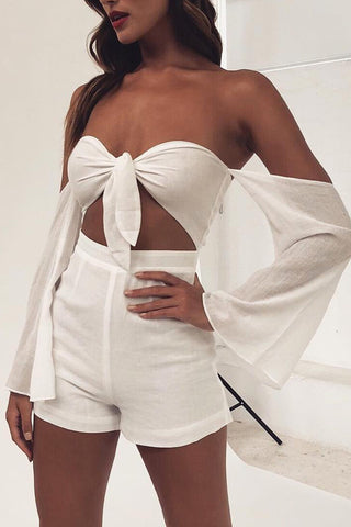 Meera Playsuit - White - MESHKI