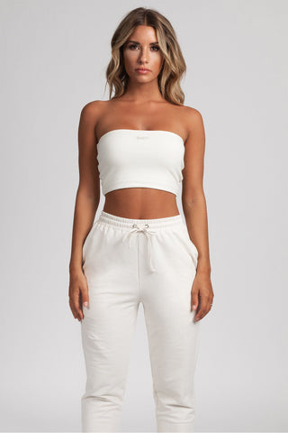 Terresa Reversible Bandeau Crop Top - Cream - MESHKI