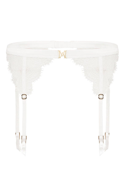 Stevie Lace Suspender - White - MESHKI