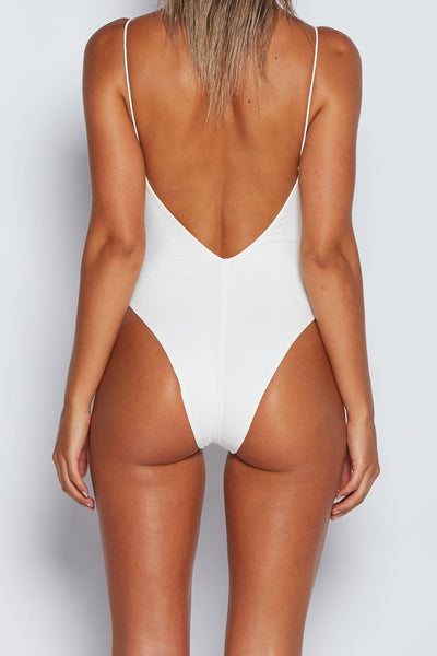 Summer Thin Strap One Piece - White - MESHKI