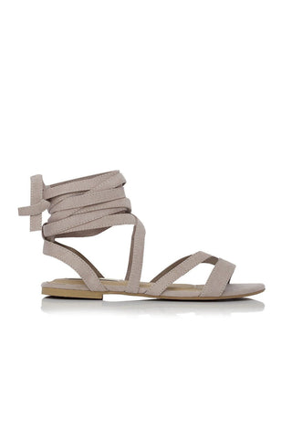 Daska Wrap Suede Sandals - Dove