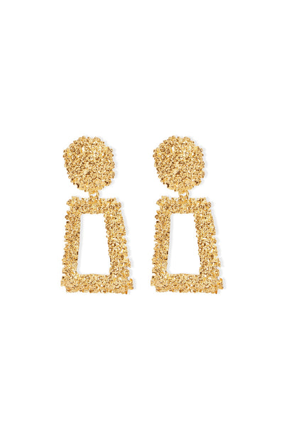 Alanis Gold Statement Earrings - Gold