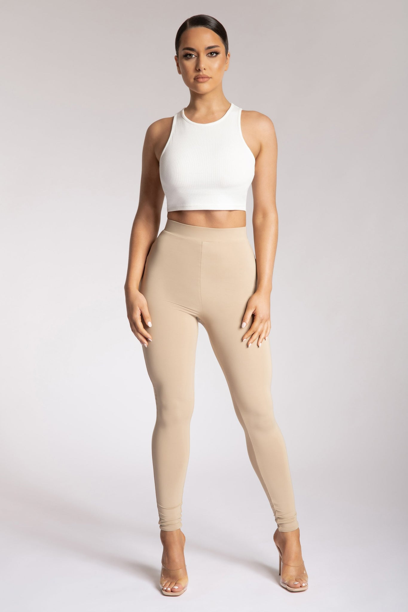 Tilly High Waisted Legging - Almond - MESHKI
