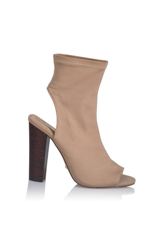 Sebastian Cut-Out Ankle Boot - Camel