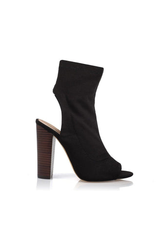 Sebastian Cut-Out Ankle Boot - Black
