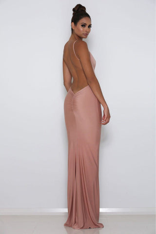 Celine Backless Maxi Dress - Peony