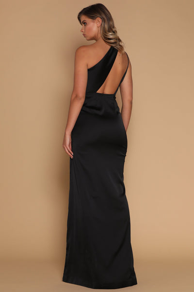 Cartia Maxi Dress - Black - MESHKI