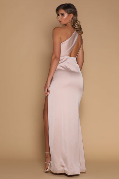 Cartia Maxi Dress - Nude - MESHKI