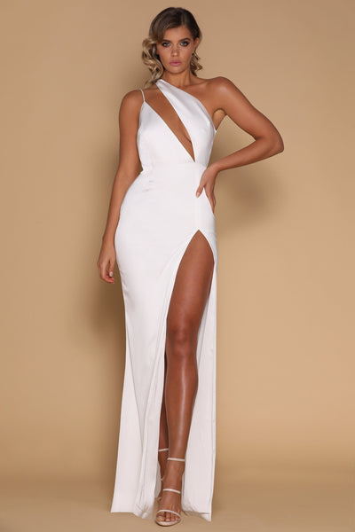 Cartia Maxi Dress - White - MESHKI
