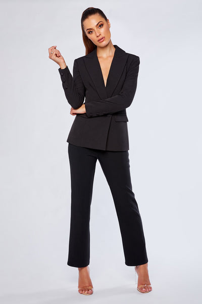 Charlize Cigarette Pants - Black