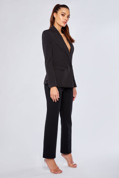 Charlize Cigarette Pants - Black - MESHKI