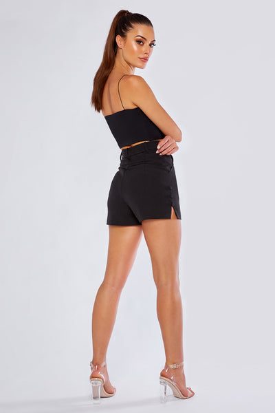 Charlize Tailored Shorts - Black - MESHKI