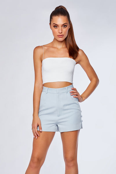 Charlize Tailored Shorts - Sky Blue