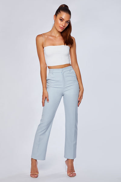 Charlize Cigarette Pants - Sky Blue