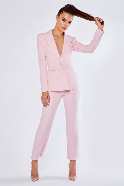 Charlize Cigarette Pants - Light Pink - MESHKI