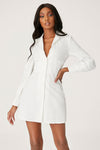 Adaline Corsetted Waist Shirt Dress - White