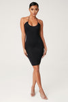 Winifred Key Hole Midi Dress - Black