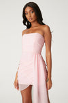 Kallah Draped Wrap Mini Dress - Blush
