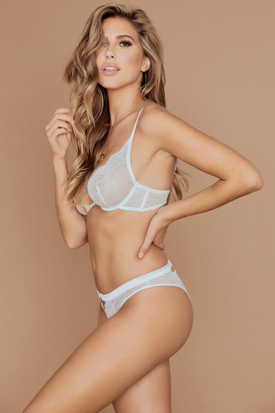 Stevie Lace Underwire Bralette - White - MESHKI