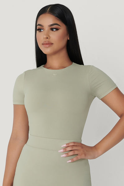 Haven Short Sleeve Bodysuit - Olive